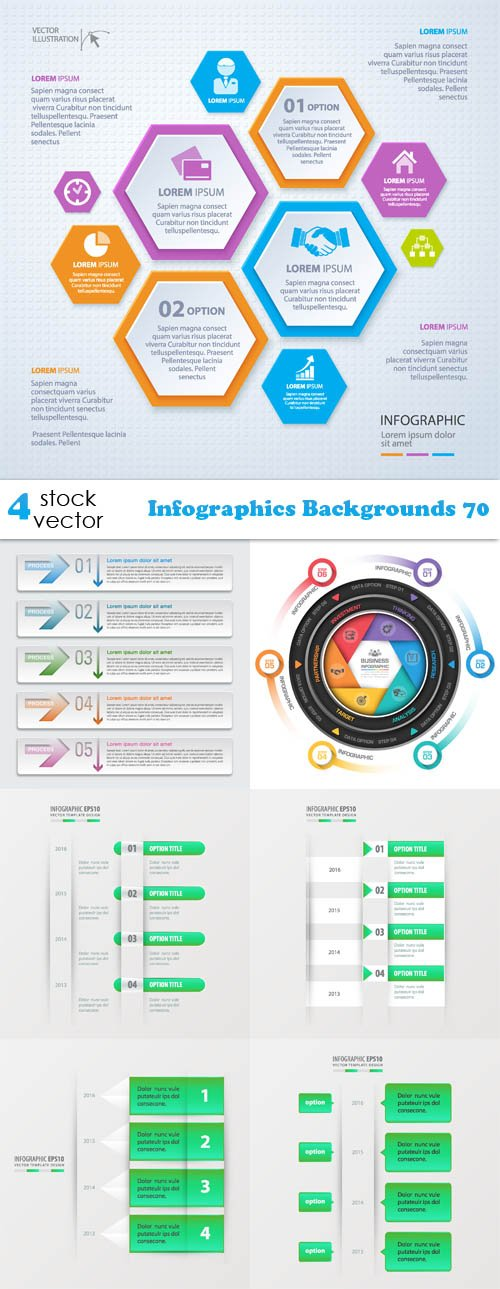 Vectors - Infographics Backgrounds 70