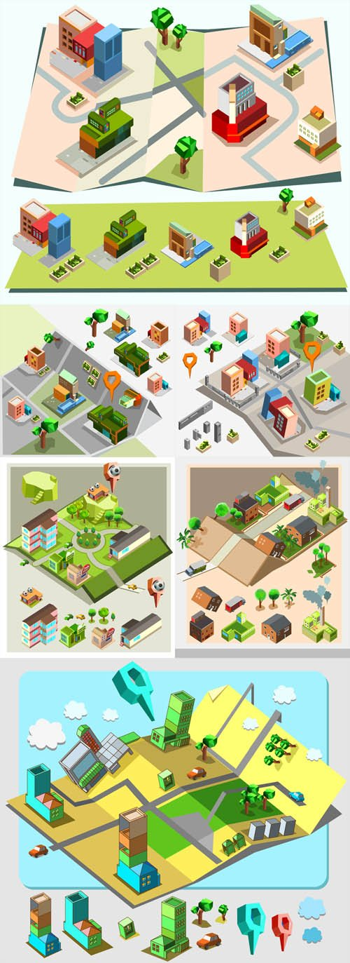 Vector Set - Pre assembly isometric map