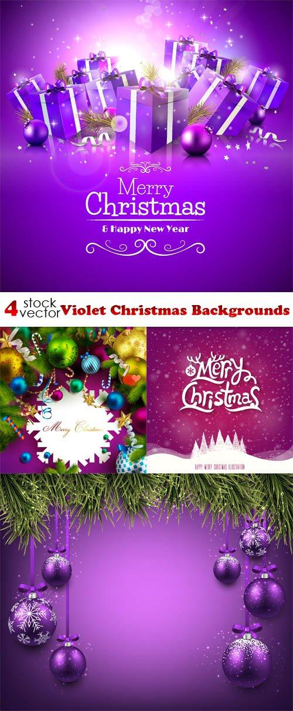 Vectors - Violet Christmas Backgrounds