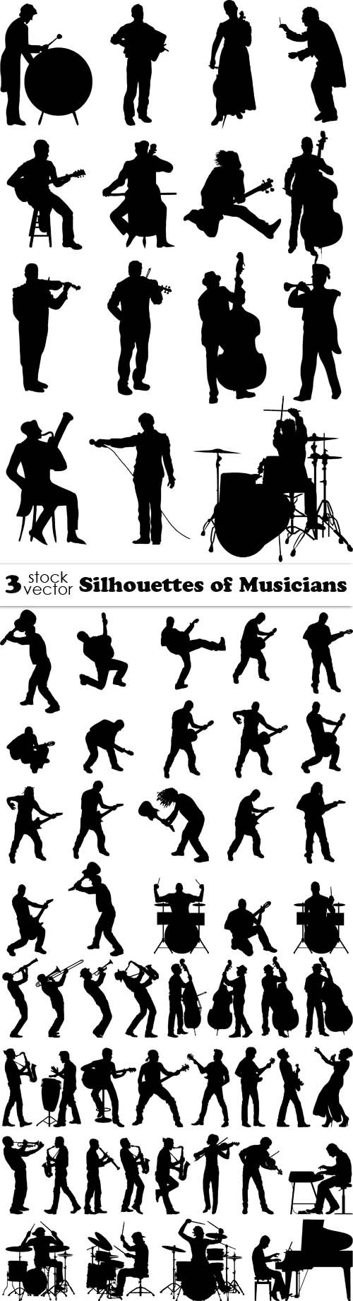 Vectors - Silhouettes of Musicians