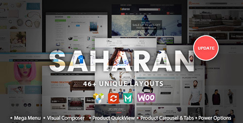 ThemeForest - SAHARAN v1.1.3 - Responsive WordPress Theme - 12755534