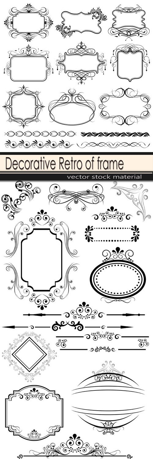 Decorative Retro of frame