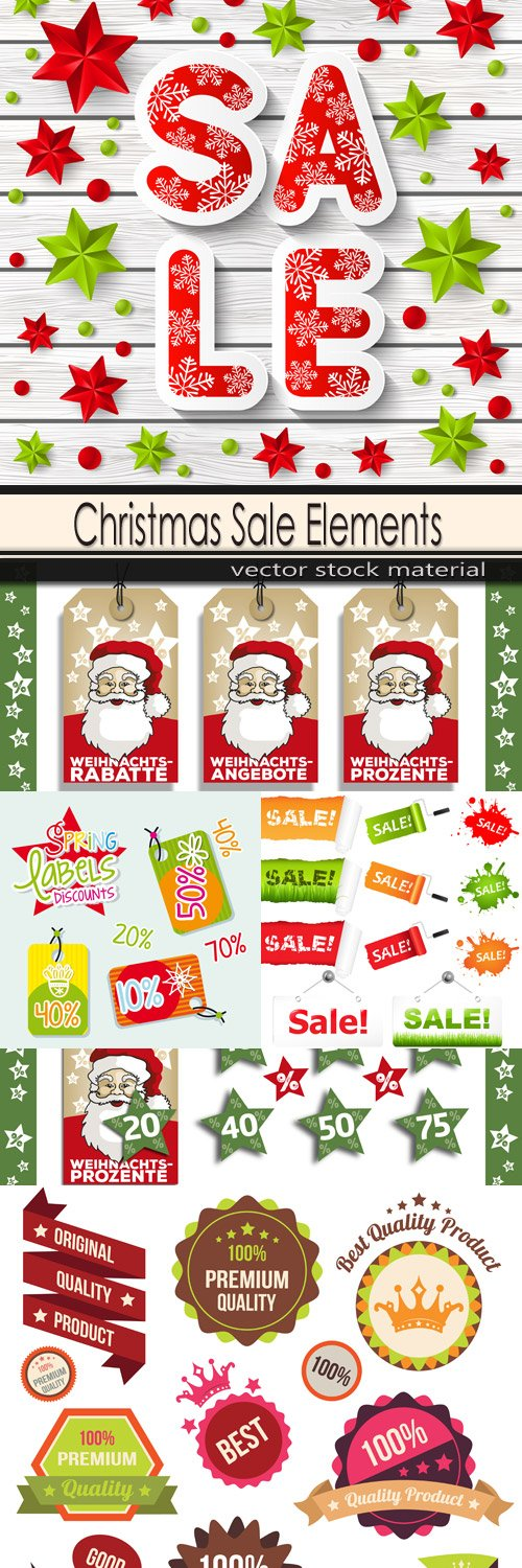 Christmas Sale Elements