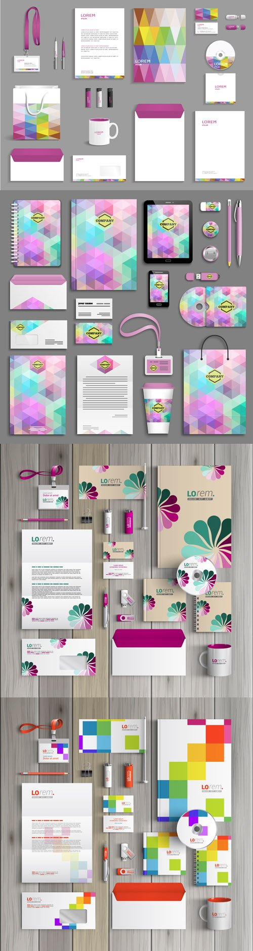 Corporate identity templates - Vectors