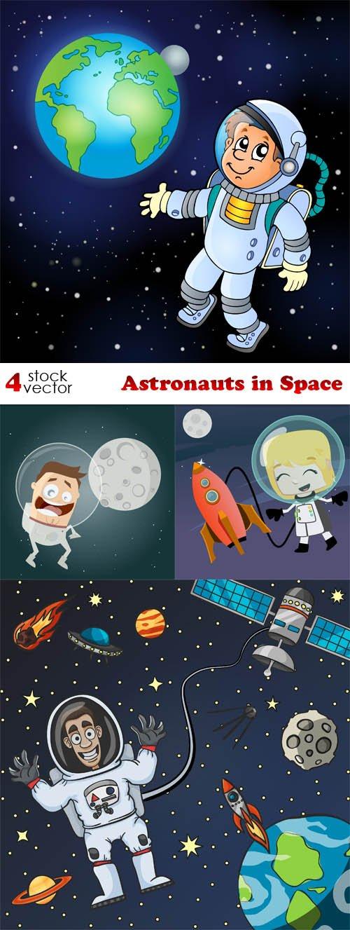 Vectors - Astronauts in Space