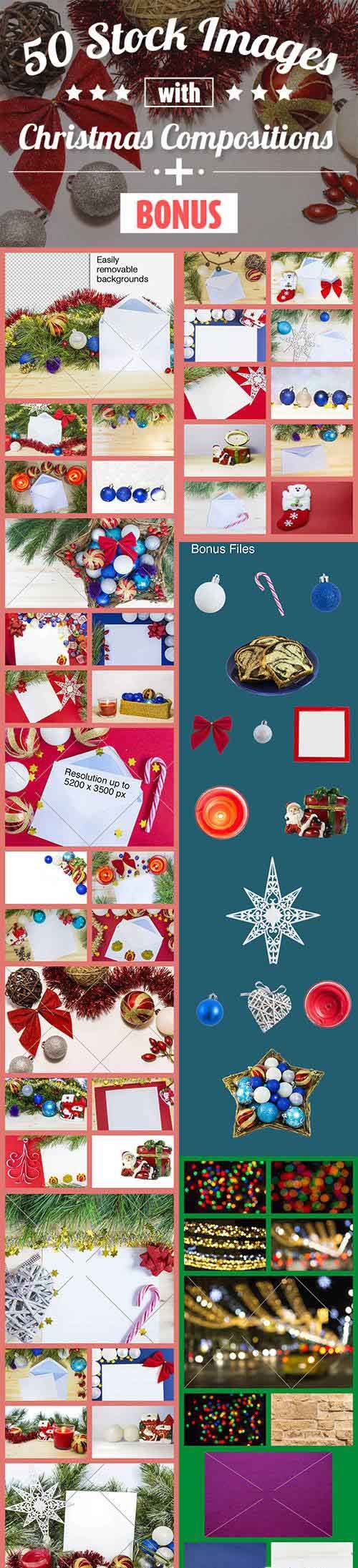 50 Stock Images with Christmas Compositions + Bonus