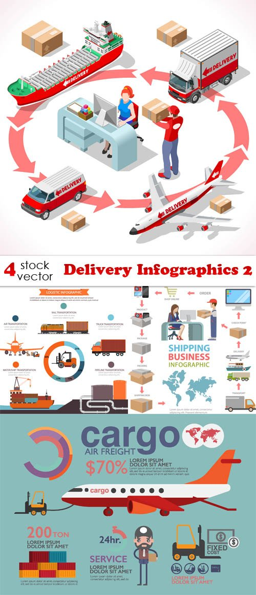 Vectors - Delivery Infographics 2