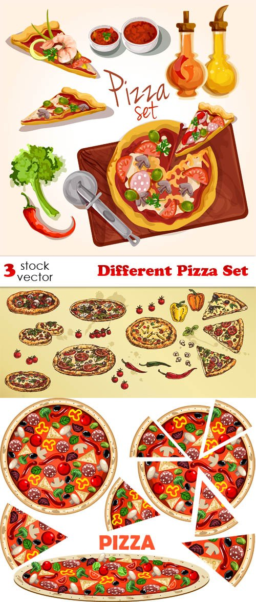 Vectors - Different Pizza Set