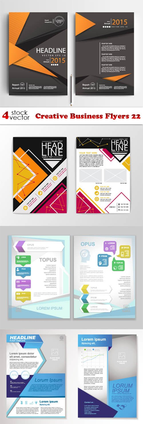 Vectors - Creative Business Flyers 22