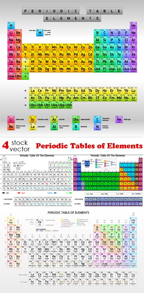 Vectors - Periodic Tables of Elements