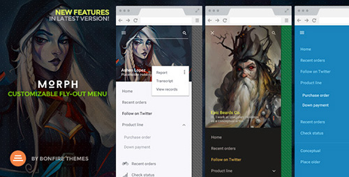 CodeCanyon - Morph v1.1 - Customizable Fly-Out WordPress Menu - 10685700