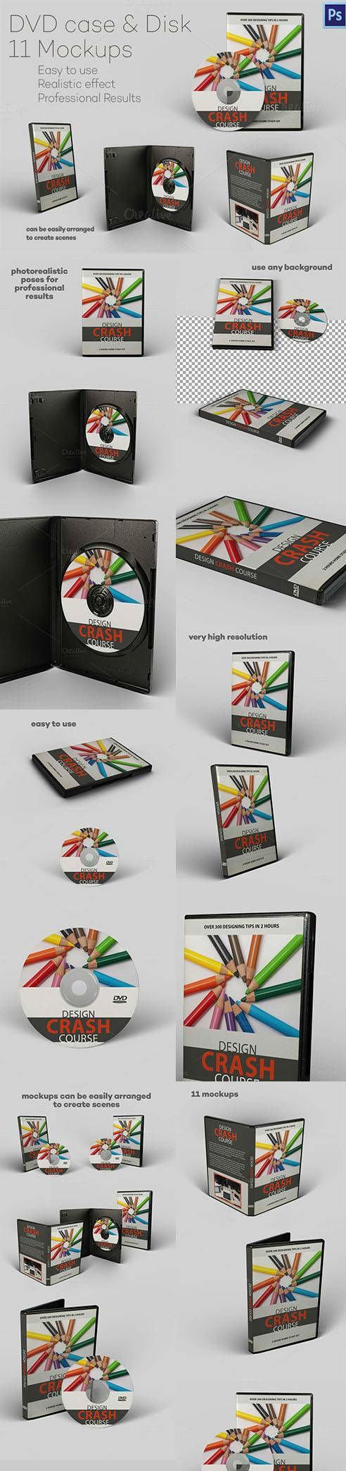 DVD case & Disk - 11 Mockups 483645 (Creativemarket)