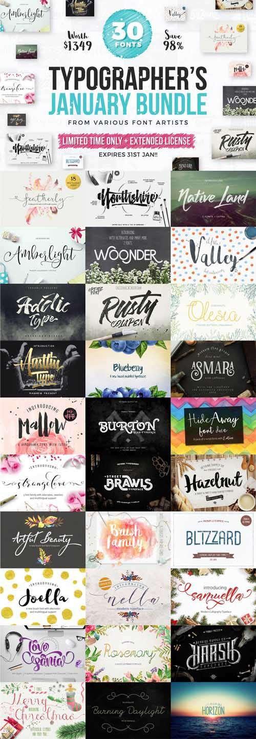 Typographer's January Dream Bundle
