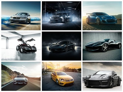 100 Wallpapers with Cars Set 2