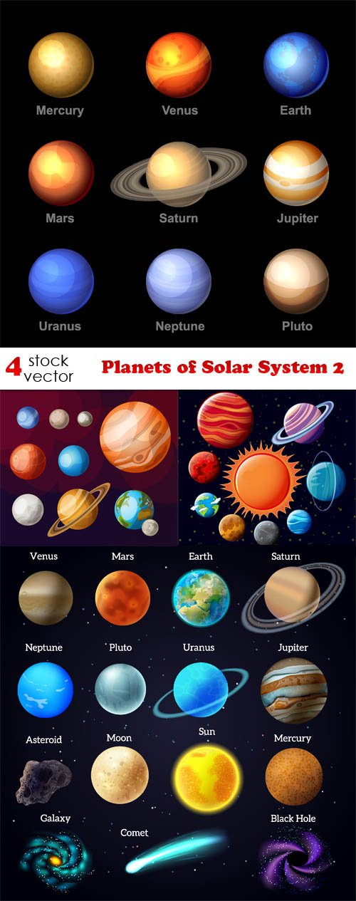 Vectors - Planets of Solar System 2