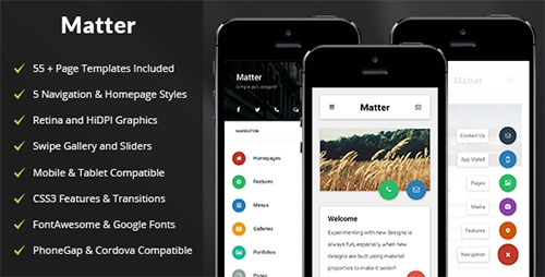ThemeForest - Matter v1.0 - Mobile Tablet Responsive Template - 13698885