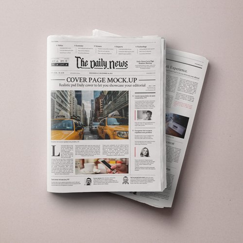 Newspaper Psd Daily Newspaper Mockup...