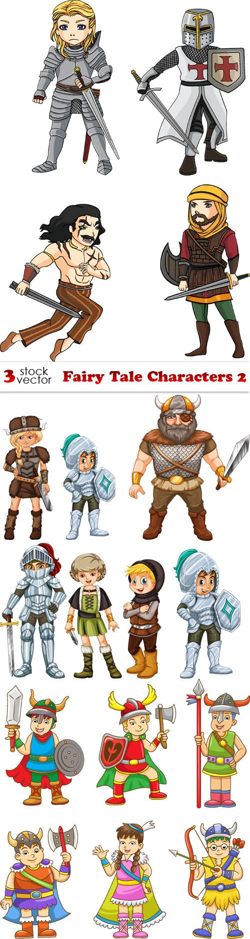Vectors - Fairy Tale Characters 2
