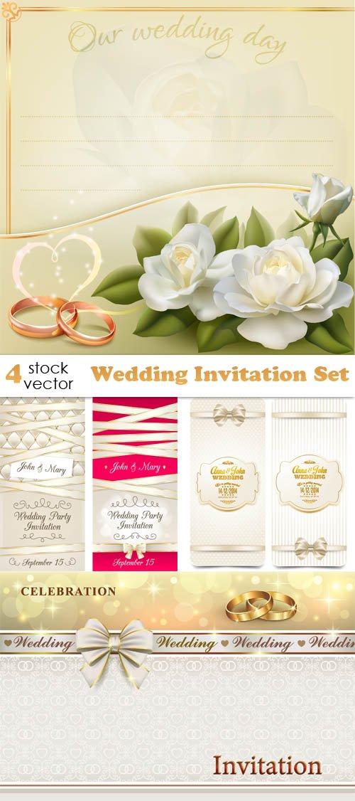 Vectors - Wedding Invitation Set