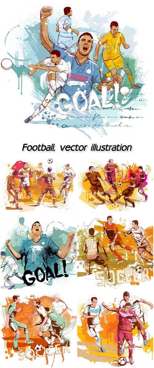 FOOTBALL, VECTOR ILLUSTRATION