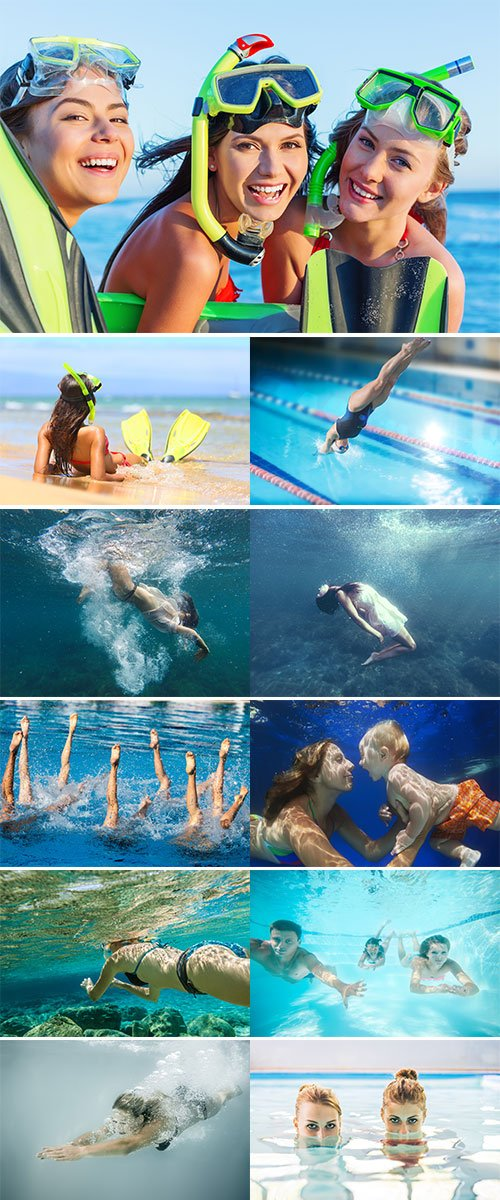 STOCK IMAGE WOMAN DIVING