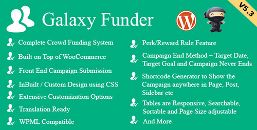 CodeCanyon - Galaxy Funder v6.6 - WooCommerce Crowdfunding System - 7360954