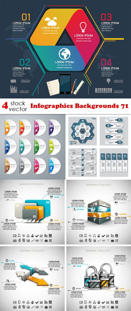 Vectors - Infographics Backgrounds 71