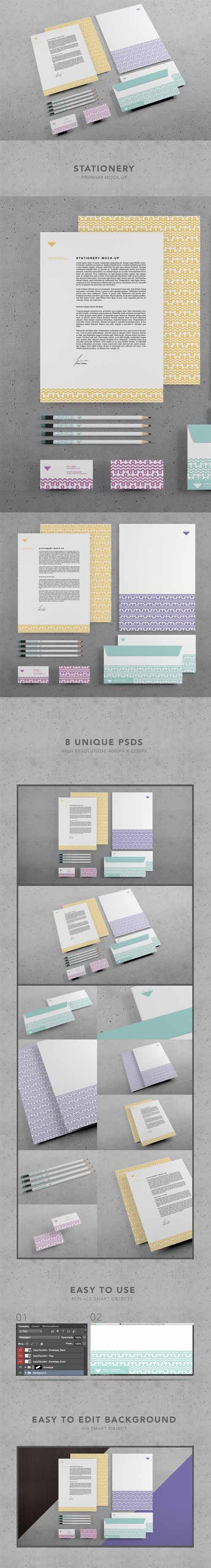 Branding Stationery premium mock-up 398125