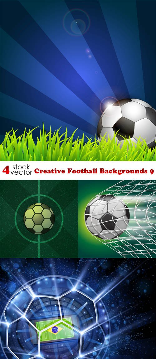 Vectors - Creative Football Backgrounds 9