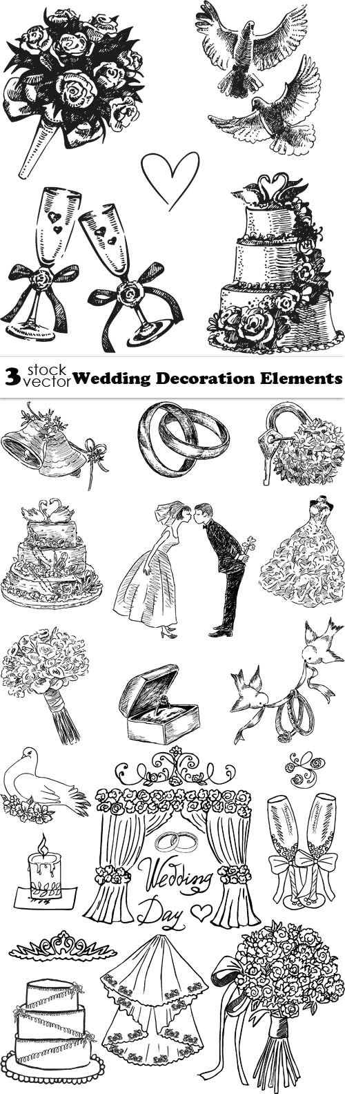 Vectors - Wedding Decoration Elements