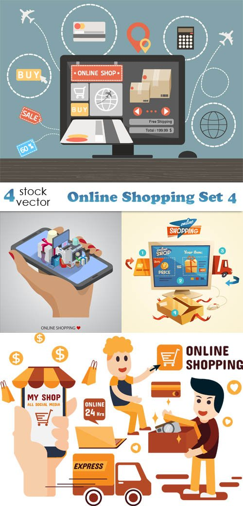 Vectors - Online Shopping Set 4