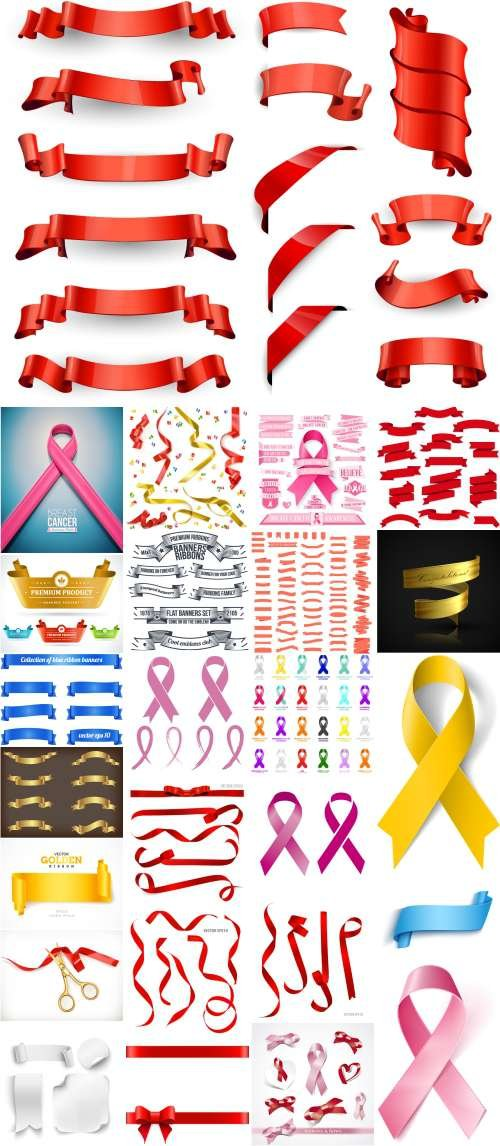 Vector Set - Banners and Ribbons Collection 25x EPS