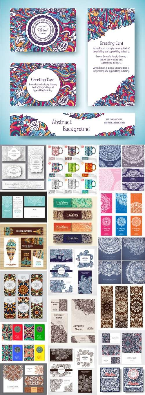 Vector set - Ethnic Ornaments - 18X EPS