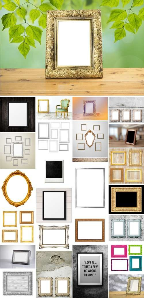 Stock - Photo Frame Mockups, 25XJPGS