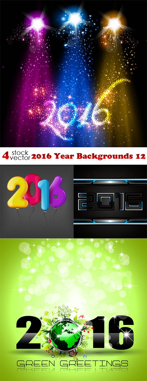 Vectors - 2016 Year Backgrounds 12