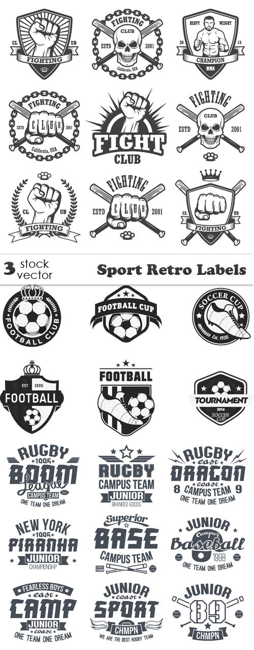 Vectors - Sport Retro Labels