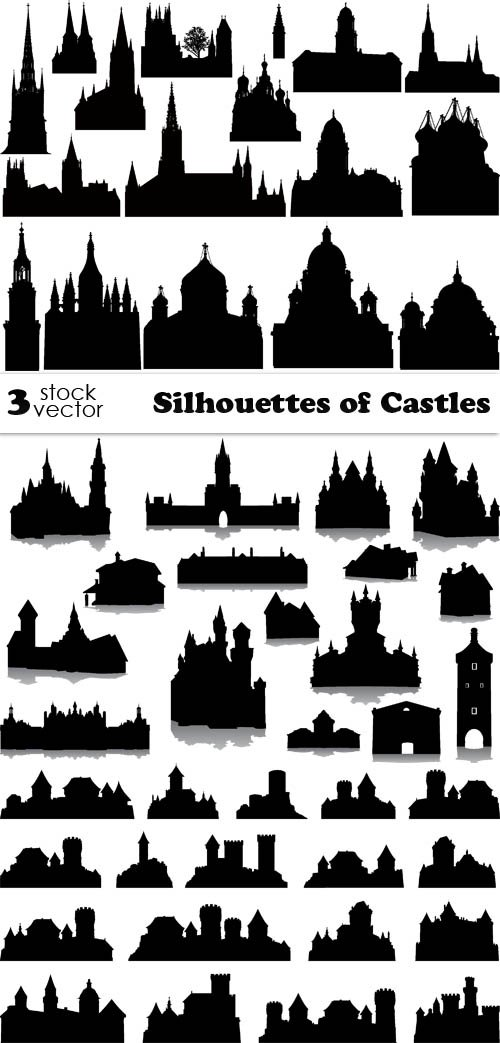 Vectors - Silhouettes of Castles