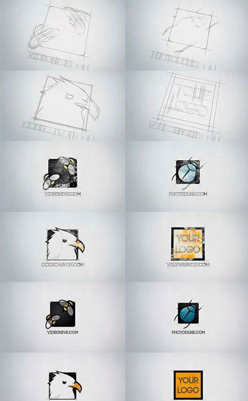 Videohive Sketch Logo Reveal 13466438