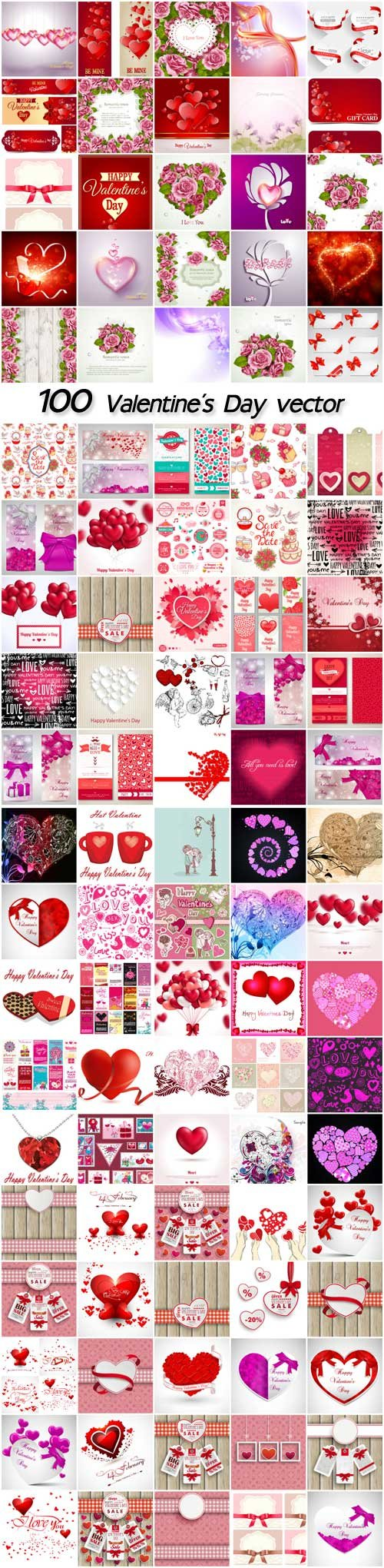 Valentine's Day, vector backgrounds romantic, hearts, cupids