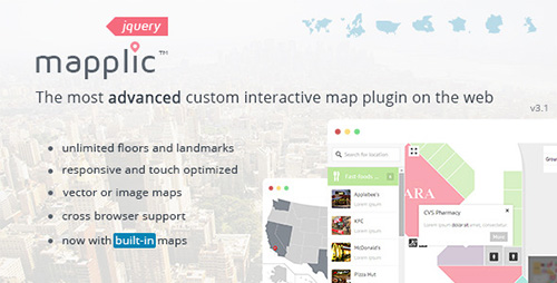 CodeCanyon - Mapplic v3.1 - Custom Interactive Map jQuery Plugin - 6275001