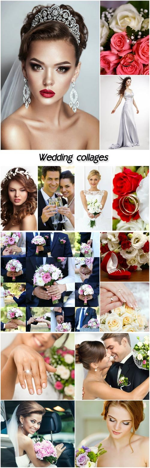 wedding collages
