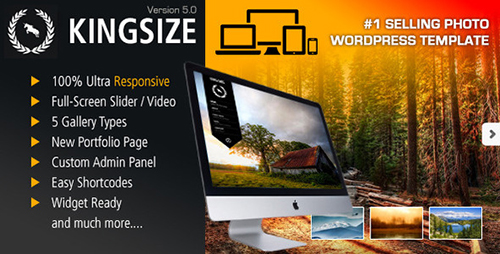 ThemeForest - King Size v5.1 - Fullscreen Background WordPress Theme - 166299
