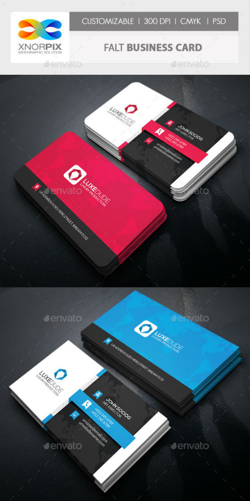 Flat Business Card - 10748365 (Graphicriver) » NitroGFX - Download ...