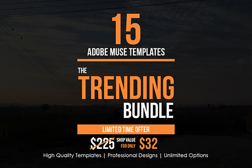 The Trending Adobe Muse Bundle - CM 500351