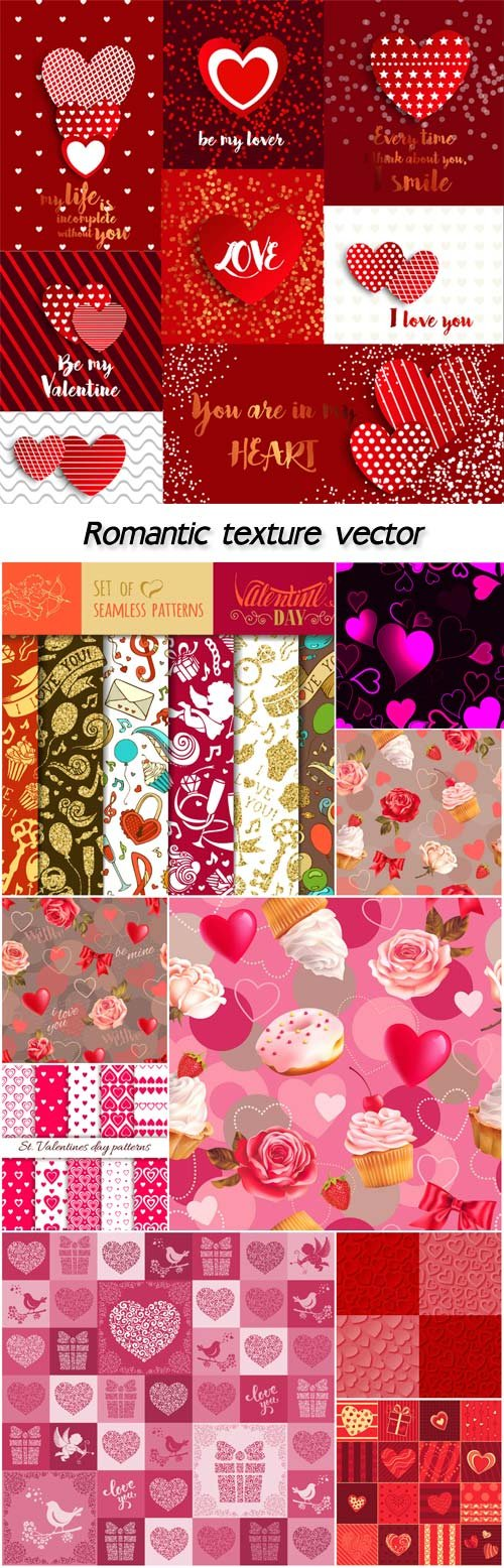 Romantic texture vector, valentines day
