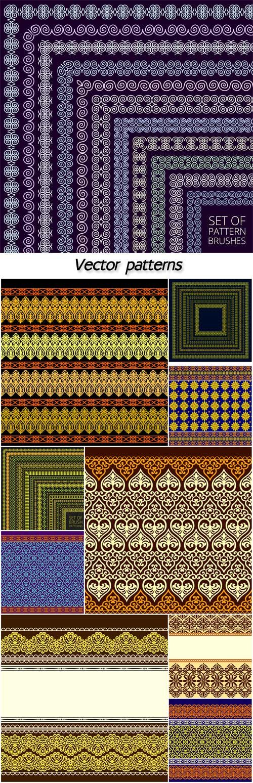 Vector patterns, backgrounds, textures