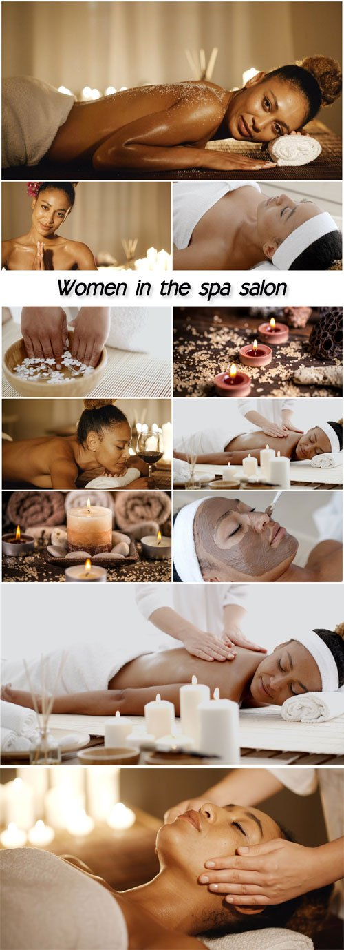 Women in the spa salon, beauty and body care