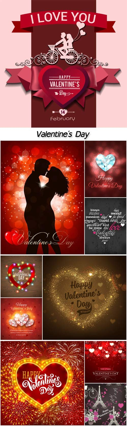 Valentine's Day, romantic backgrounds vector