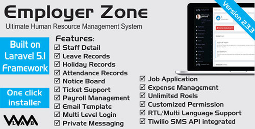 CodeCanyon - HRM - Employer Zone v1.4 - Ultimate Human Resource Manager - 12164943