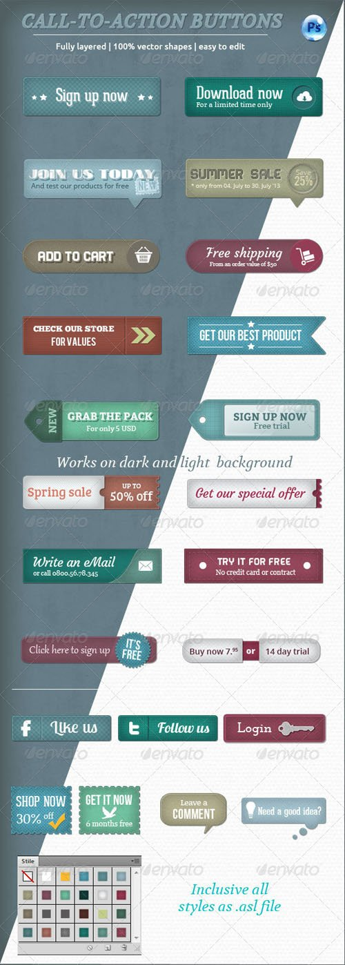 Call-To-Action Buttons Vol.II - Graphicriver 4780787